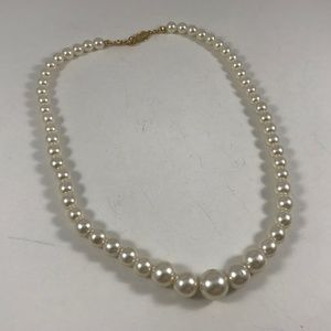 Vintage Napier Faux Pearl Necklace